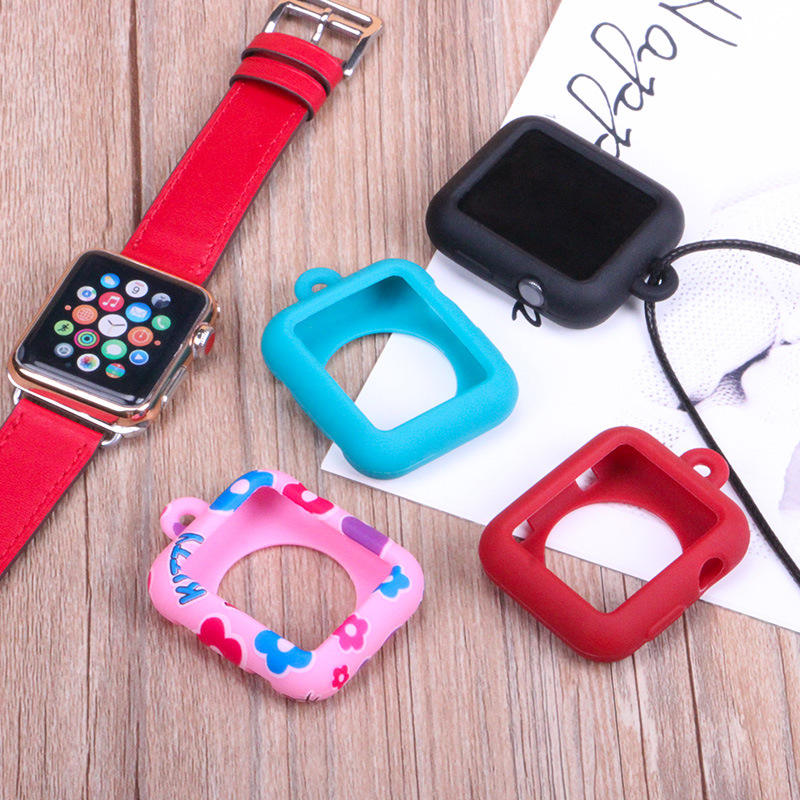 Watch Accessory Durable rubber Protector Cover Case Solid With Buckle All-inclusive Necklace Pendant for apple watch silicone s