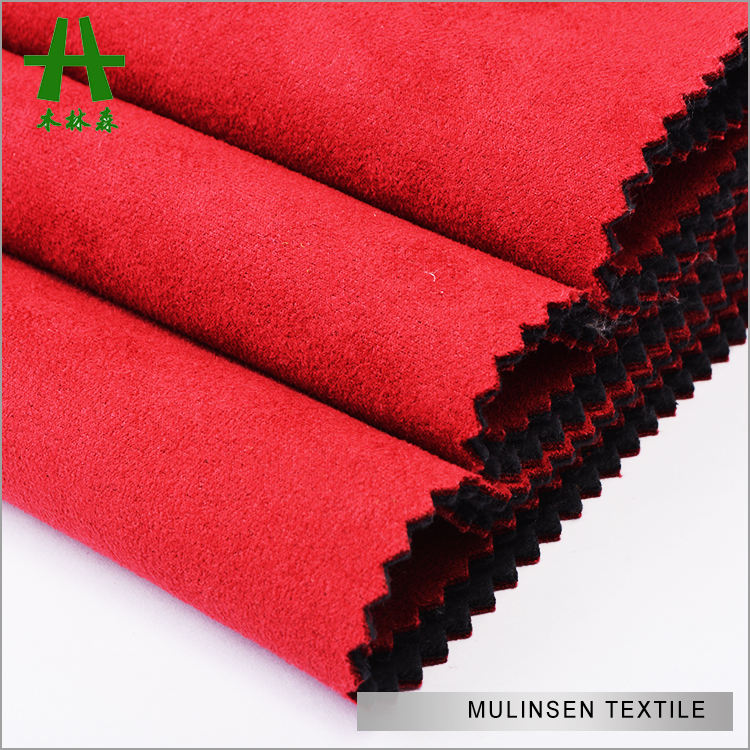 Mulinsen Textile Bonding Fabric Polyester Scuba Suede with Plain Dyed Polar Fleece