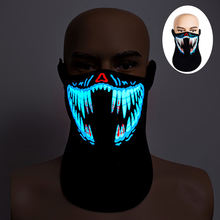 Top sellers sound sensitivity,LED RAVE Mask for Festival,Party,Halloween,Dance Ball,Cosplay