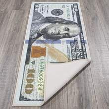 "Money Rug 100 Dollar Bill Area Rug Carpet Door Mat 22"" x 53"""