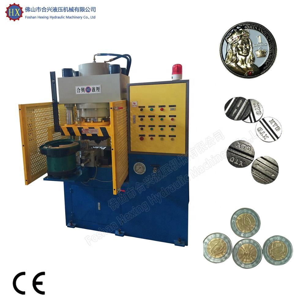 Full-automatic Hydraulic Souvenir Coin Pressing Stamping Making Machine