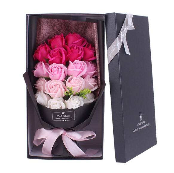 FC9202 ValentineのDay Creative Gift 18 Soap Rose Bouquet Gift Box MotherためのDay
