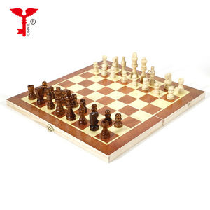 Folding Wooden International Chess Funny Game Chessmen Collection Portable Board chess sets