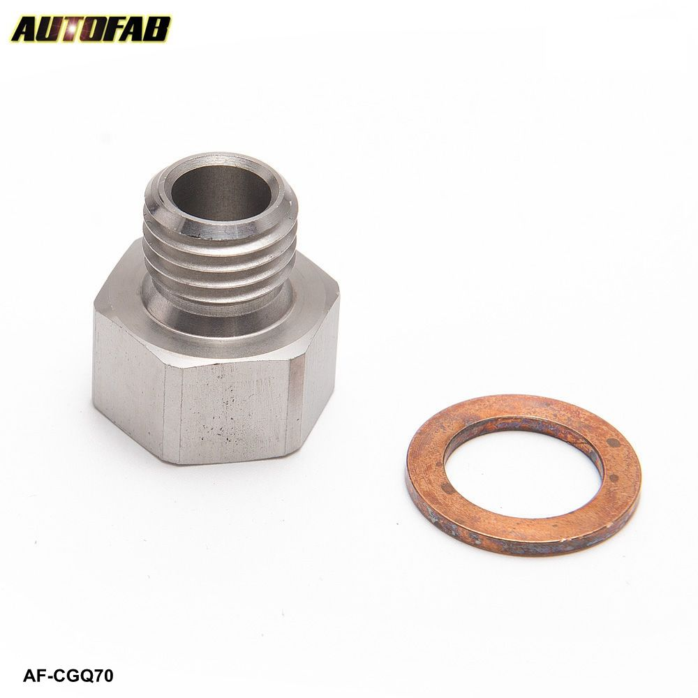 M12x1.5 Male to 1/8'' NPT Female Boost Gauge Sensor Sender Adapter Reducer S.S Oil & Water Temperature Sensor AF-CGQ70