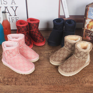 Uggging OEM bottes femme schaffell warme ankle fur wolle australian schnee uggging stiefel winter stiefel für kinder schnee stiefel