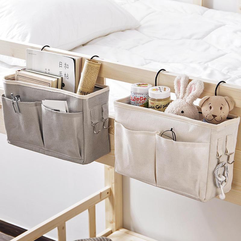 Household Hanging Bedside Sofa Bag Remote Control Paper Towel Clip Magazine Storage Organizer
