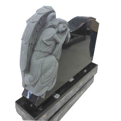 Wholesale monument-for-cemetery-design customized with headstone flower vase and base stone tombstone.