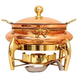 Indian art villa steel copper chafing dish