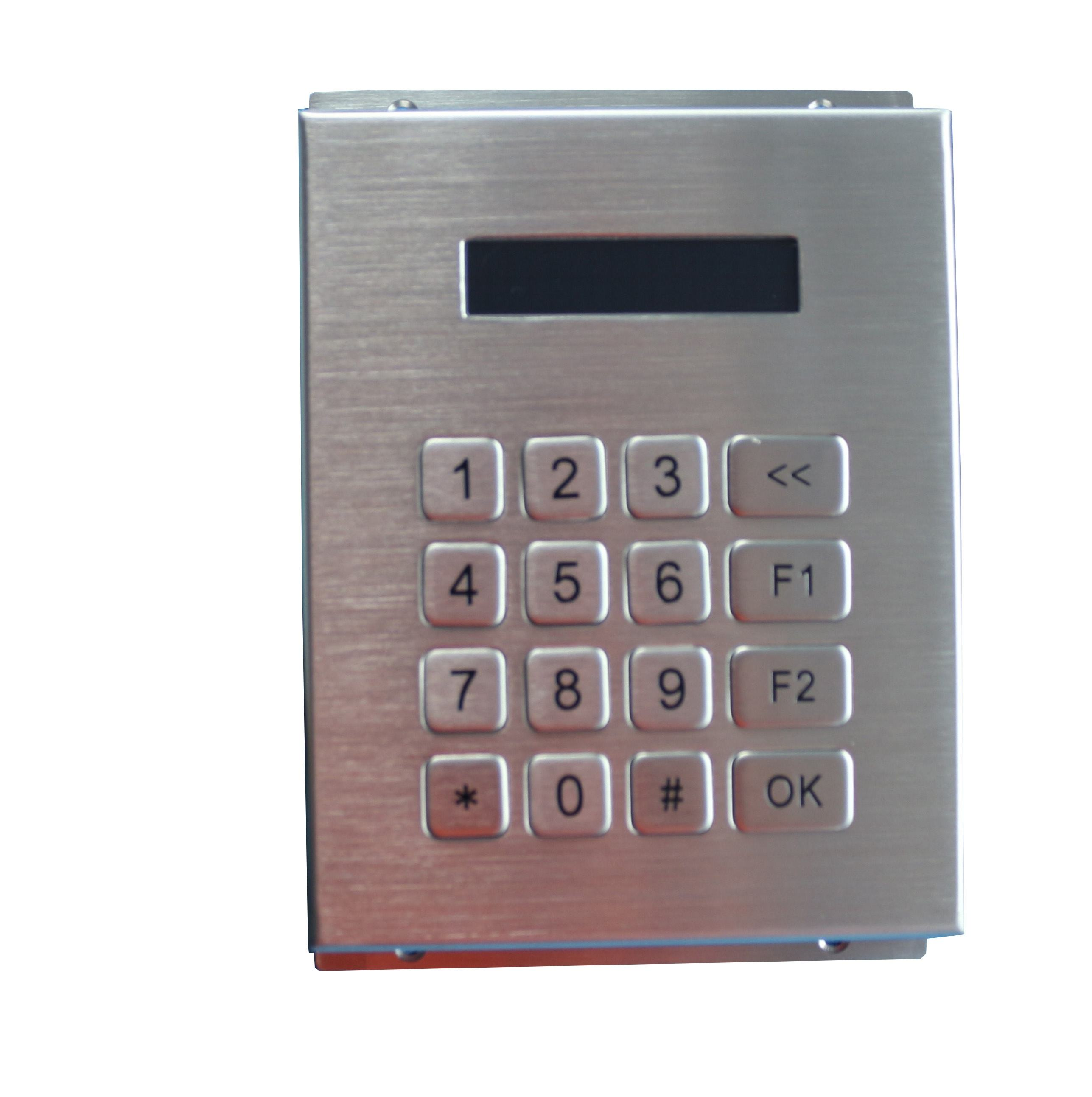 waterproof mini 4x4 RS232 numeric metal keypads with LCD display