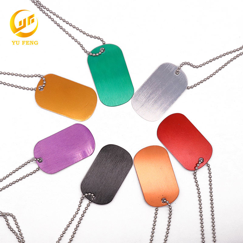 Fashion Various Colors Custom Sublimation Double Sided Dog Tags