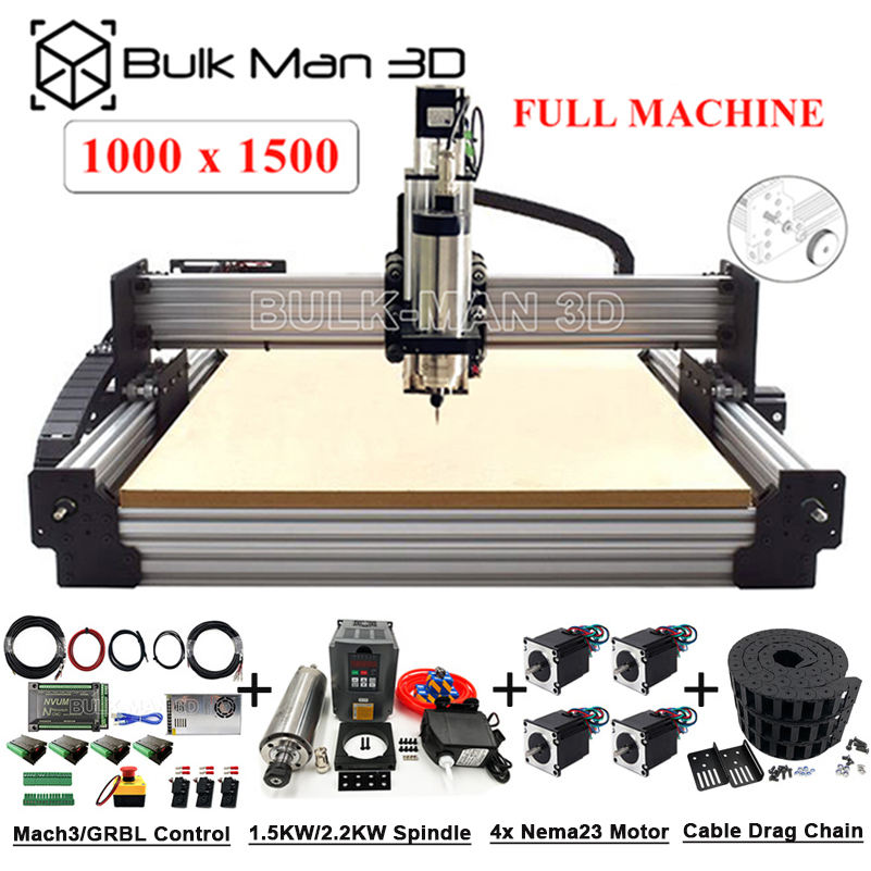 최신 버전 1000x1500mm Workbee CNC 우드 라우터 풀 키트 Tingle Tension System CNC Mill CNC 조각사