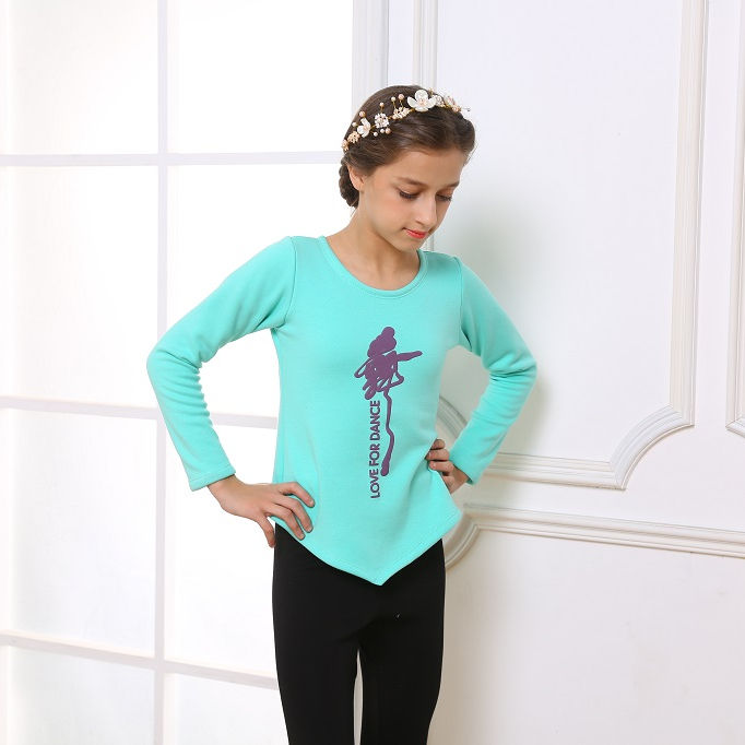 Girls Long sleeves Ballet Dance Leotards Training Dancewear Ballet Top and Tight