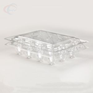 Biodegradable Custom Clear Quail Egg Cartons With 12 Holes