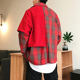 2020 Sprint Cartoon Print Shirt Fashions Plaid Patchwork Shirt Long Sleeve Mens Casual Streetwear Shirts