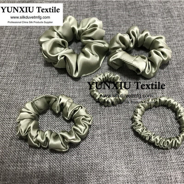 100% Silk Scrunchie On Sale Hair Scrunchies Elastic Ties For Women No MOQ 5 style Silk Srunchies