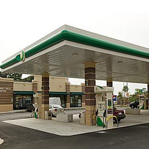 China factory directed well designed steel gas petrol station roof canopy