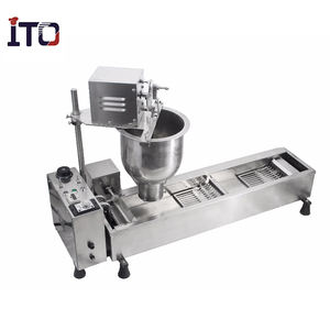 Electric Single row Automatic 3 moulds donut maker fryer machine Doughnut maker with timer donut making machine