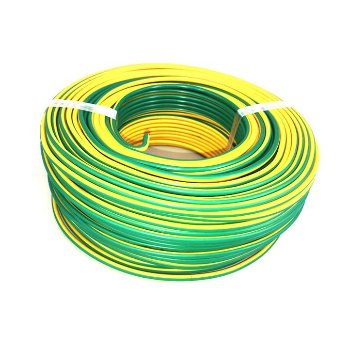 6mm2 10mm2 12 awg bare copper aluminum galvanized steel green yellow ground wire cable