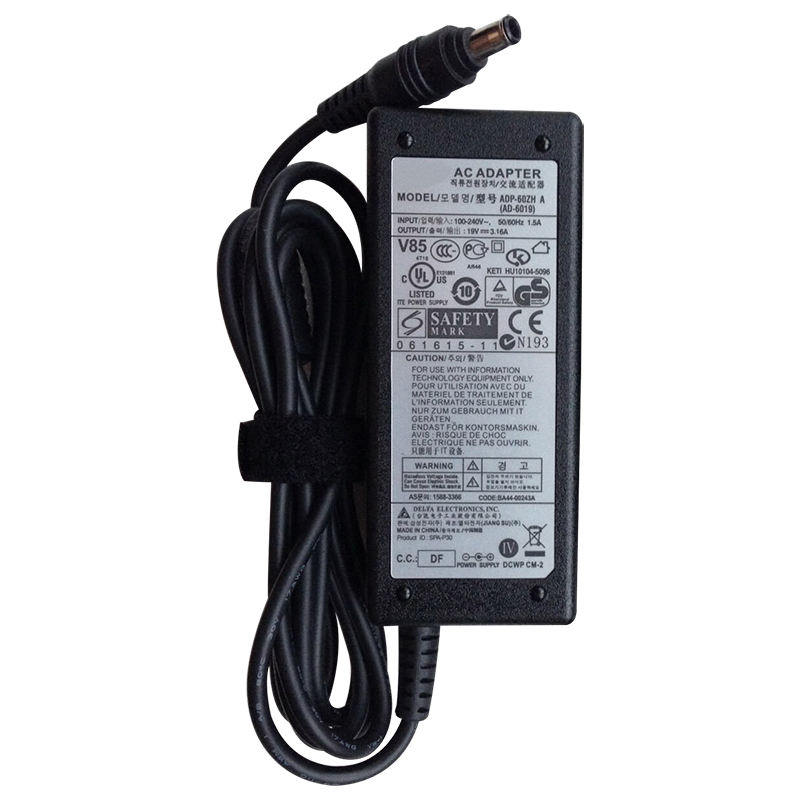 19V 3.16A 60W laptop ac adapter for Samsung charger 5.5x3.0mm universal adapter AD-6019R for Samsung