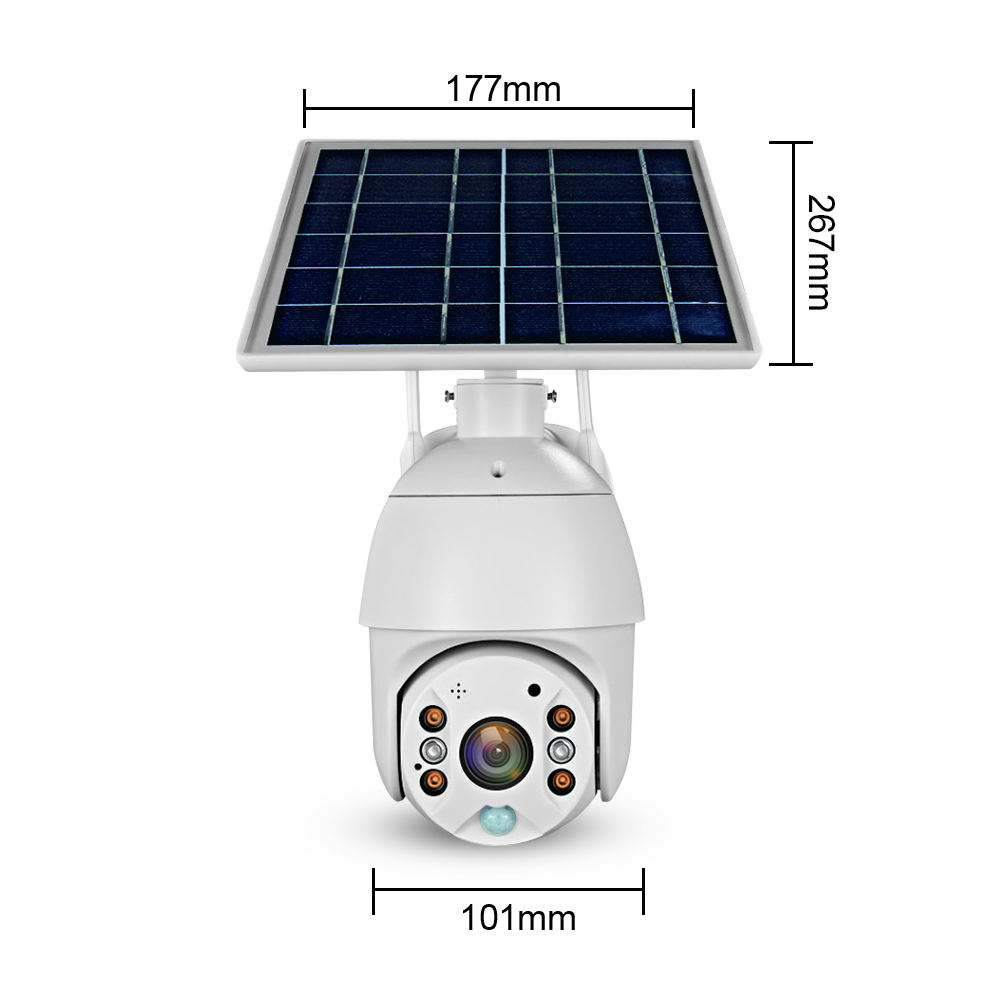 Loosafe 4G Sim Card Solar Ip Wifi Lte Camera Cctv Dome Cam Draadloze Camara 5x Zoom Pir Camera