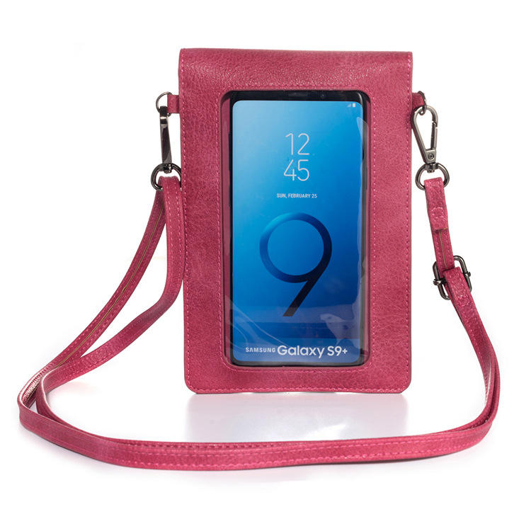 Casual Vrouwen 6.4-Inch Mobiele Telefoon Zak Voor Apple 12 6.1 Kaart Tas Flip Touch Screen Schoudertas wallet Leather Case