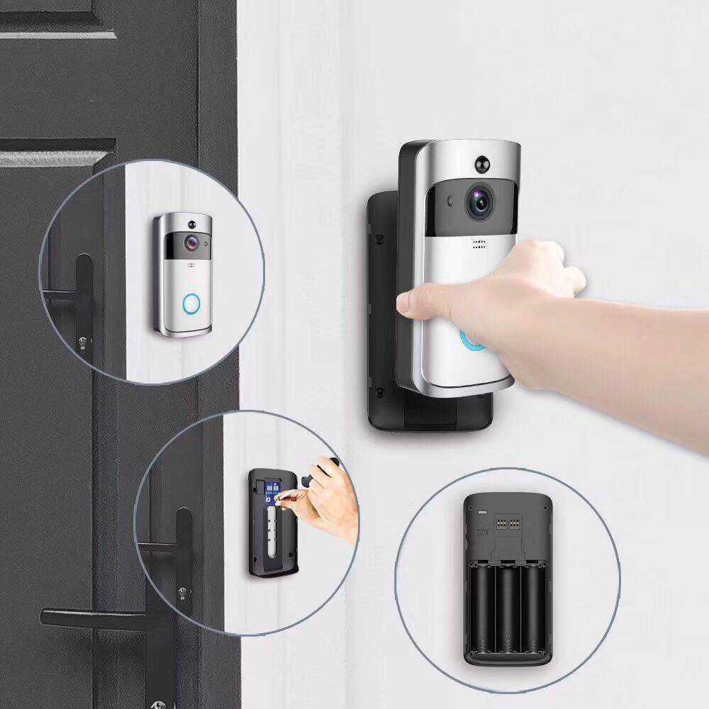 Wireless doorbell App control doorbell door viewer peepehole camera video phone wifi visual electronic viewer wireless doorbell