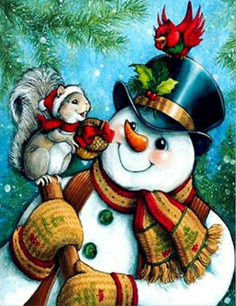 новогодние картинки со снеговиками для декупажа по-прежнему