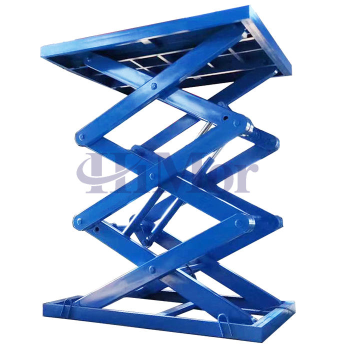 Fix in pit lift table hydraulic scissor one floor lift