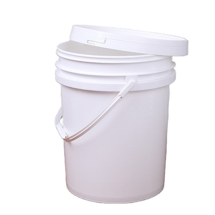 Food Grade Contains No BPA Plastic Durable 90 Mil All Purpose Pail 5 Gallon White Plastic Bucket & Lid