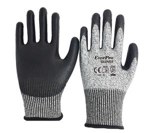 Anti Cut Level 5 13G HPPE Liner PU Coated Best Cut Proof Gloves for Wood Carving