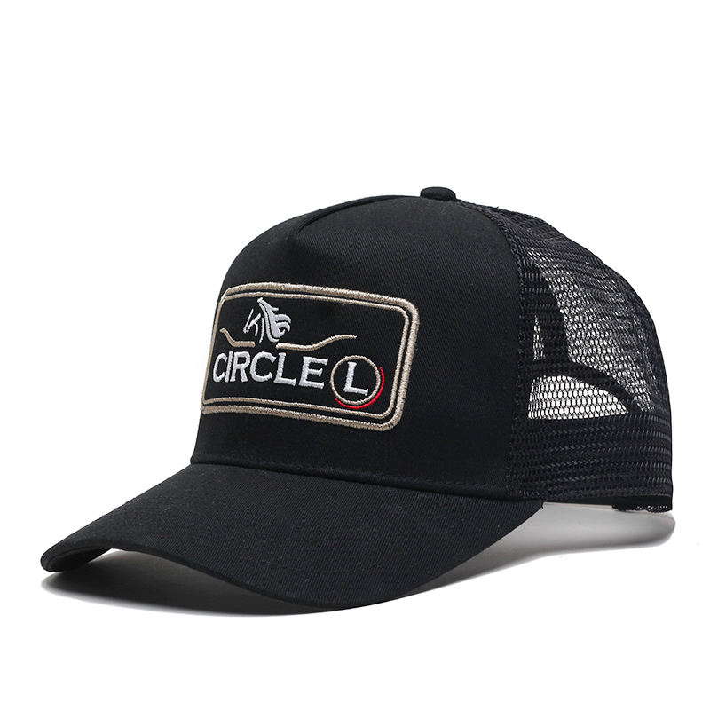 Custom Australian Country High Profile Trucker Hat 5 Panel Embroidery Logo Underbrim Printing Truckers Cap