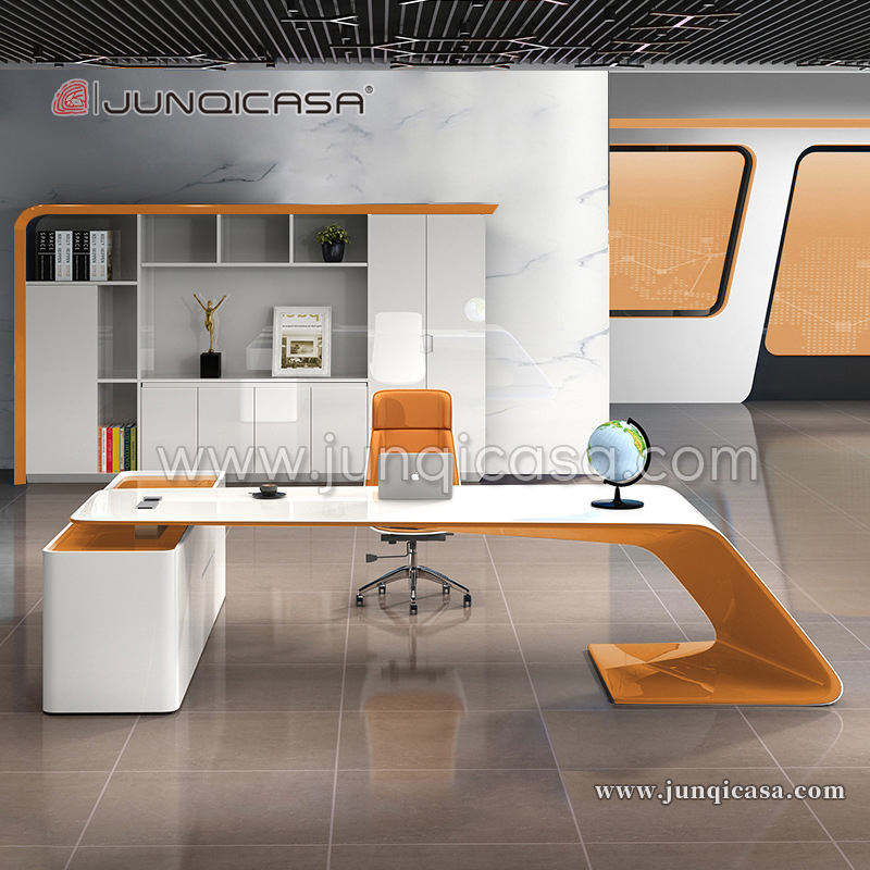 Hot Sell Desk Office Glass Modern Manager CEO Table Luxury Computer Desk Office