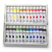 School Professional Artist Paint Canvas Waterproof 24 Colors Acrylic Paint