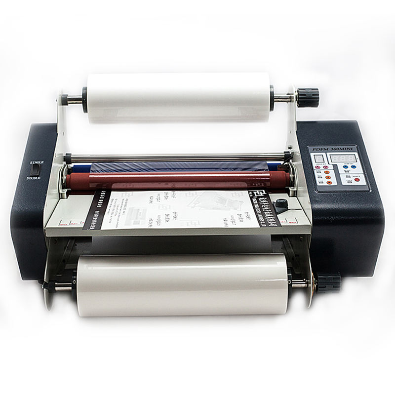China laminator PDFM360mini Automatische Koude en Hot Roll Lamineren Machine