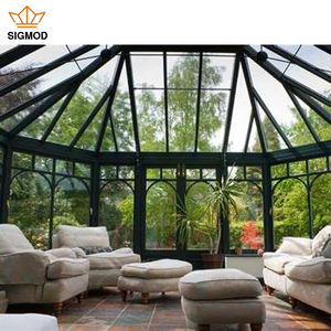 aluminum alloy sunshine room glass garden house rounded green house supplier terrace roof malaysia sunroom