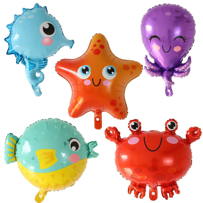 Hot Sale Ocean Theme Series Kids Foil Balloons Toys Children's Day Balloon