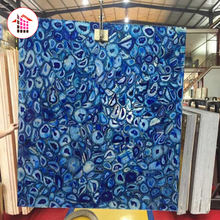 Popular blue agate stone for wall decorations