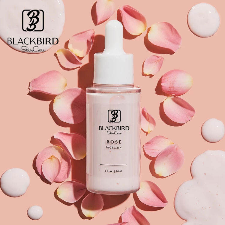 2020 New Arrival Private Label Moisturizing Face Milk Whitening Rose Milk Serum Anti Aging Facial Serum