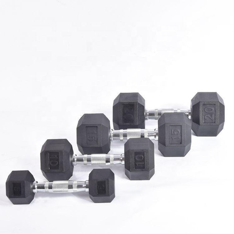 Factory wholesale OEM/ODM Wholesale rubber hex dumbbell for exercise