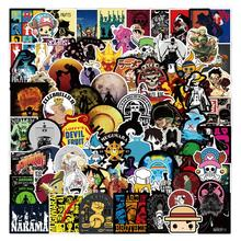 100Pcs New Fashion One Piece Stickers For Laptop Cars Notebook Skateboard Laptop Vinyl Anime Stickers