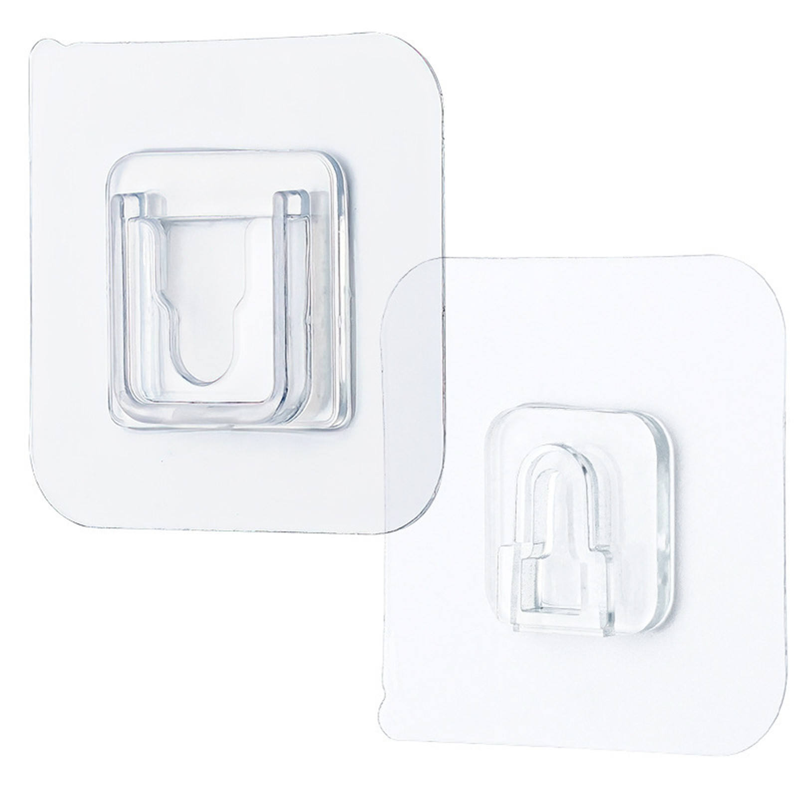 Adhesive Wall Hooks Double-sided Transparent Flexible Hooks
