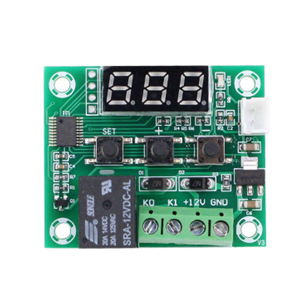 Temperatursteuermodul Schalter Steuerung Temperatur Relais W1209 12V Thermostat