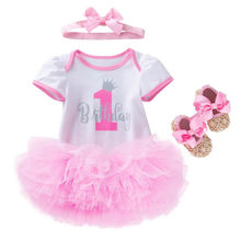 LSH12 Baby Girl Clothes Newborn Skirts Cotton White Romper Tutu Dresses Roupa Infantil Infant for Girls Party Clothes