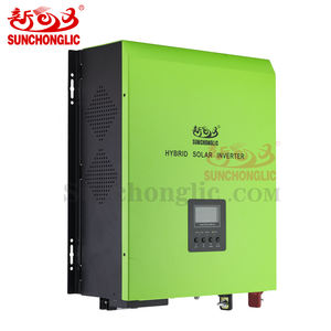 Sunchonglic 48v 5kva 3000w pure sine wave 60A mppt hybrid solar inverter with 30A AC charger