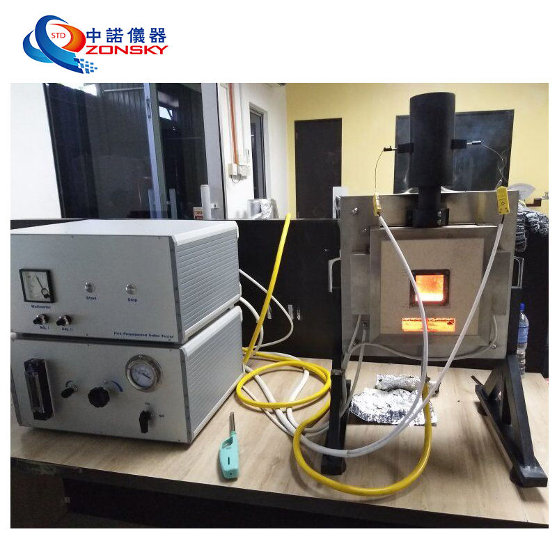 BS 476-6 Building Materials and Structures Flame Propagation Flammability Tester