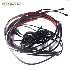 HTAUTO 4pc bluetooth app controle LED Undercar Underbody Underglow Kit Neon Strip Onder Auto Body Glow Light kit