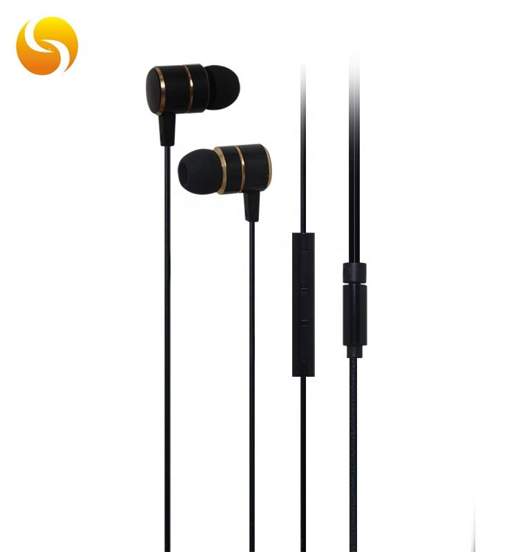 Fashion gold color 6m+10m double drive earphone 2020 oem in ear earbuds safety sound earphone