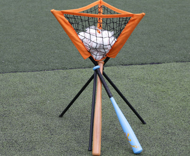 Customizable orange triangle batting device ball net pocket baseball accessories golf supplies