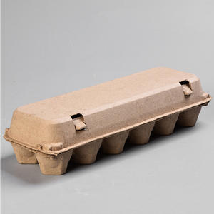 biodegradable custom design fiber paper pulp molded 12 holes chicken eggs cartons trays