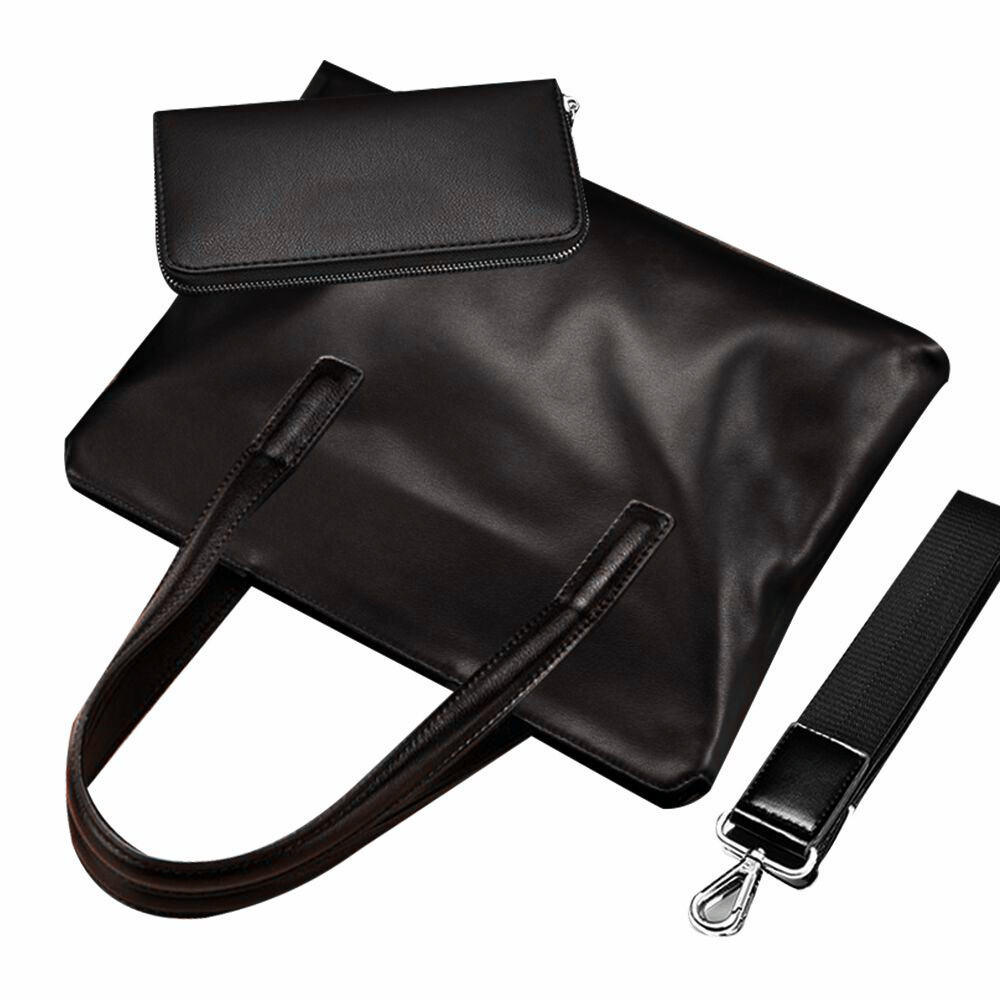 Schwarz wasserdicht benutzer definierte berühmte Marke Aktentasche Tote Daily Echte Kuh PU Leder Business Office Bag Man Handtasche